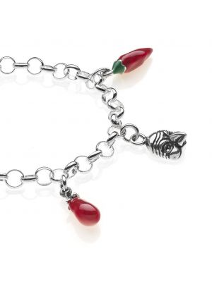 Bracciale Light con Charms Campania in Argento 925 e Smalti