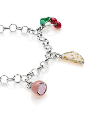 Bracciale Light con Charms Emilia Romagna in Argento 925 e Smalti