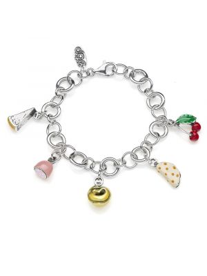 Bracciale Luxury con Charms Emilia Romagna in Argento 925 e Smalti