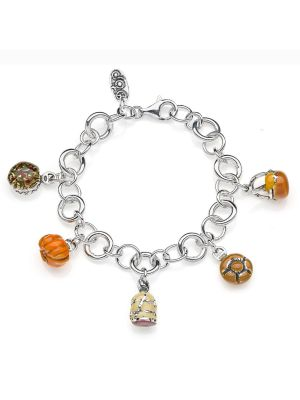 Bracciale Luxury con Charms Lombardia in Argento 925 e Smalti