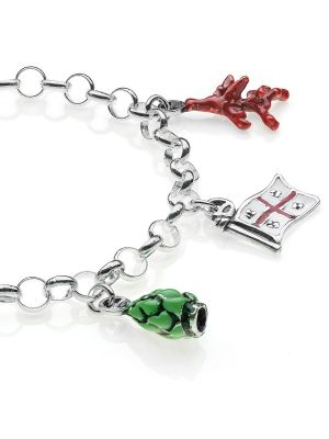 Bracciale Light con Charms Sardegna in Argento 925 e Smalti