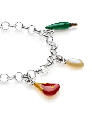 Bracciale Light con Charms Toscana in Argento 925 e Smalti
