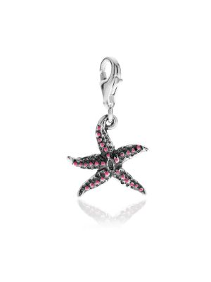 Starfish Charm in Sterling Silver and Enamel