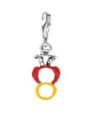 Ace of Coins Charm in Sterling Silver and Enamel