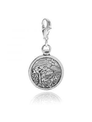 Gulf of Naples Charm in Sterling Silver