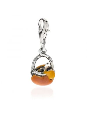 Polenta Charm in Sterling Silver and Enamel