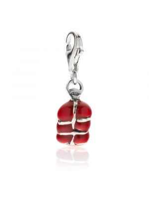Nduja Charm in Sterling Silver and Enamel