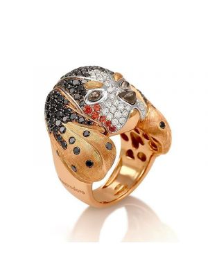 Pink gold Cavalier ring