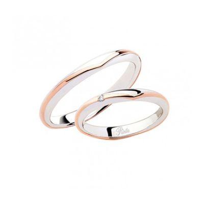 Fede Donna Polello in oro bianco e rosè E3236DBR
