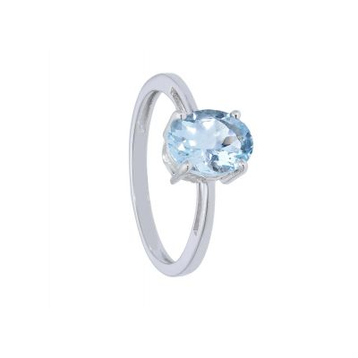 Anello con Acquamarina ct 1.20