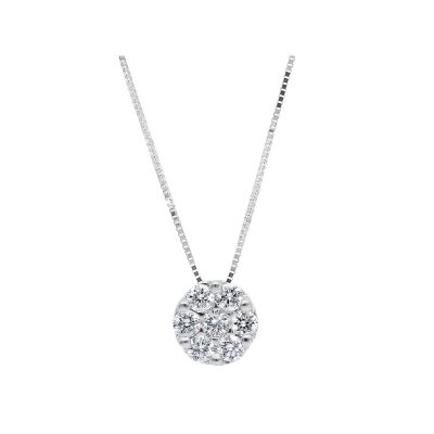 Girocollo punto luce con diamanti ct 0,32 G VS