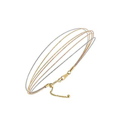 Bracciale in oro bianco giallo rosa