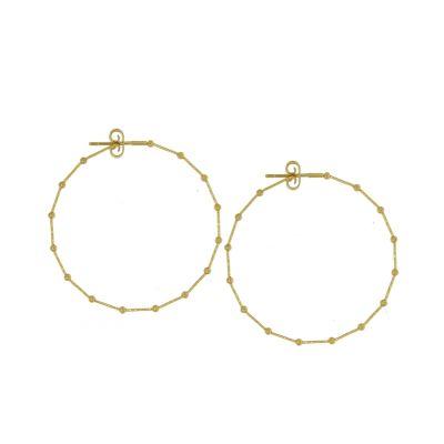 orecchini in oro bianco