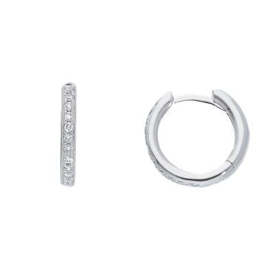 Orecchini Cerchi diamanti ct 0,18 G