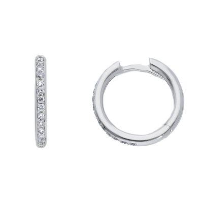 Orecchini Cerchi diamanti ct 0,21 G