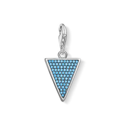 Charm Pendant Triangle Turquoise