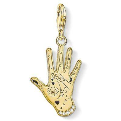 Charm Pendant Vintage Hand Gold