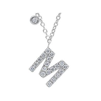 Girocollo Iniziale M con Diamanti ct 0.36