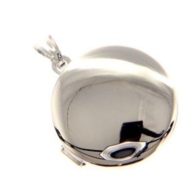 Maiocchi Silver Ciondolo Tondo Portafoto Argento