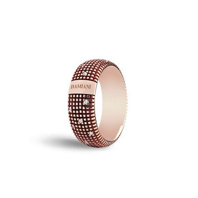 Damiani Anello Metropolitan Oro Rosa e Diamanti