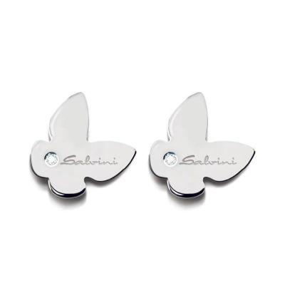 Salvini orecchini Minimal Farfalla Bianca