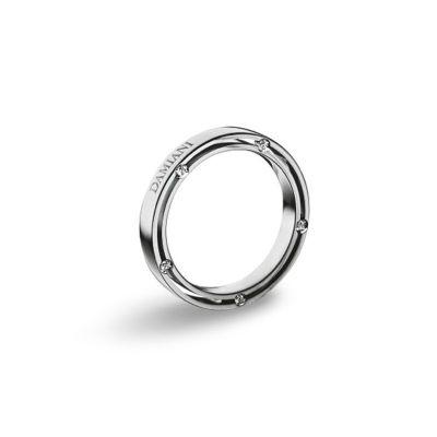 Fede nuziale in Platinum con diamanti