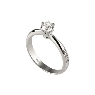 Anello di fidanzamento in oro bianco con diamante