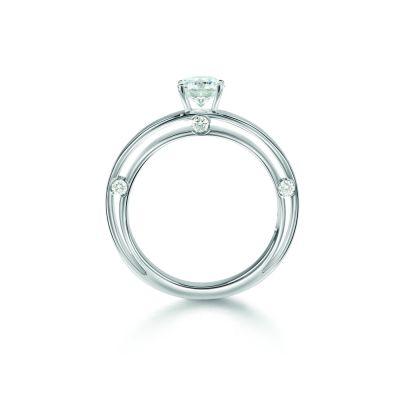 Anello di fidanzamento in Platinum 0,22 carati, colore H, purezza VS