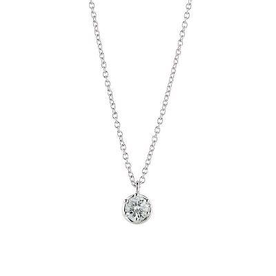 Collana in oro bianco e diamanti 0,4 carati
