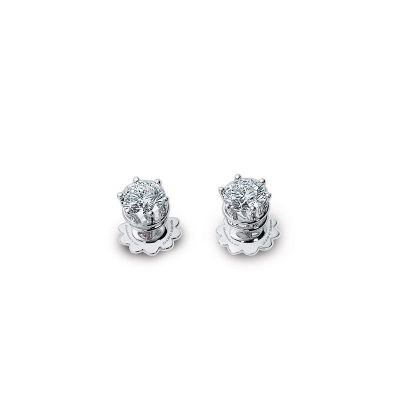 Orecchini in oro bianco e diamanti 0,4 carati