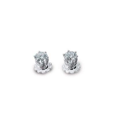 Orecchini in oro bianco e diamanti 0,6 carati