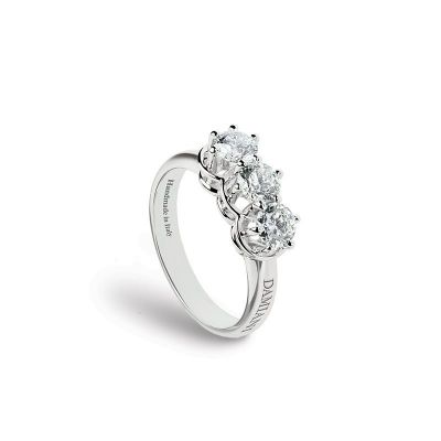 Anello in oro bianco e diamanti 1,24 carati