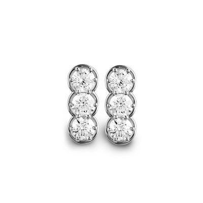 Orecchini in oro bianco e diamanti 1,38 carati