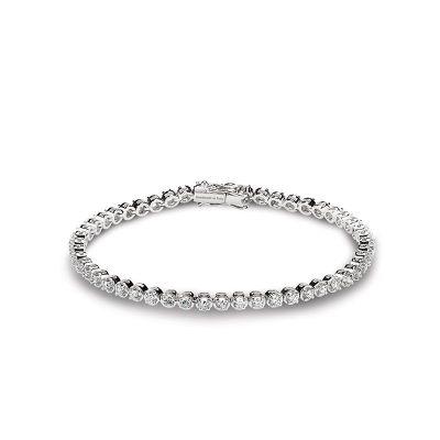 Bracciale in oro bianco e diamanti 2,1 carati
