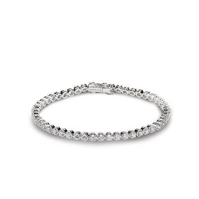 Bracciale in oro bianco e diamanti 3,01 carati