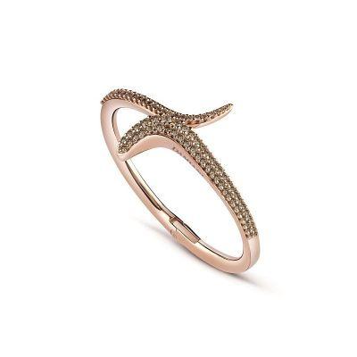 Bracciale in oro rosa e diamanti brown