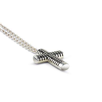 Collana in argento con diamanti black