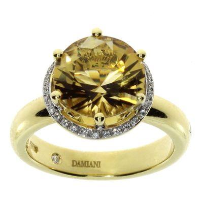 Damiani Anello Minou in Oro Giallo Quarzo Citrino e Diamanti