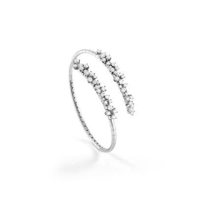 Bracciale in oro bianco con diamanti
