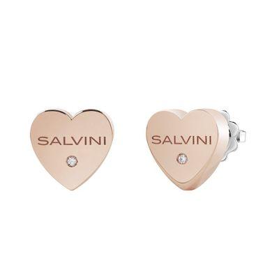 Salvini orecchini I Segni Cuore Oro Rosa