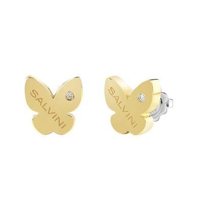 Salvini orecchini I Segni Farfalla Oro Giallo