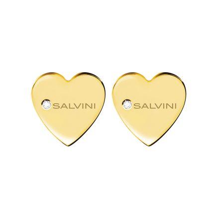 Salvini orecchini I Segni 9kt Cuore Oro Giallo