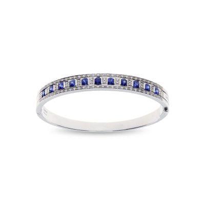 Damiani Bracciale Belle Epoque in Oro Bianco Diamanti e Zaffiri