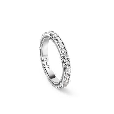 Damiani Anello D.Side in Oro Bianco Diamanti