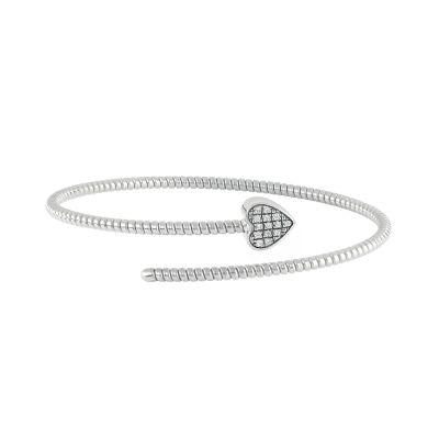 Salvini Bracciale Minimal Pop Cuore in Oro Bianco e Diamanti