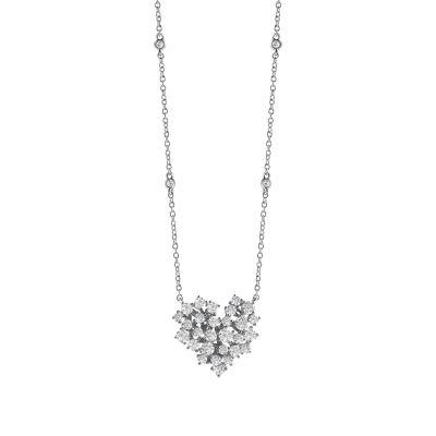 Collana in oro bianco con diamanti