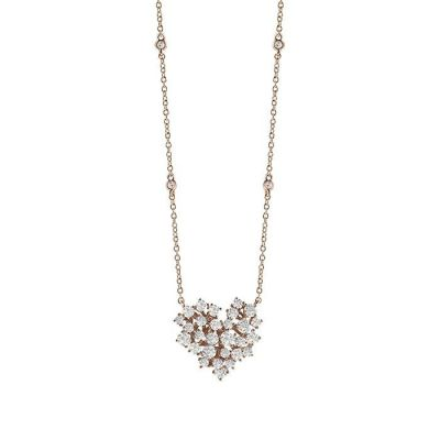 Collana in oro rosa con diamanti