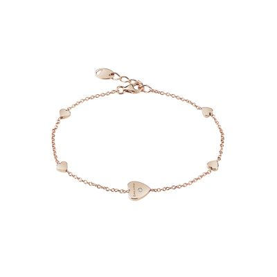 Salvini Bracciale I Segni Cuore Oro Rosa 9kt e Diamante
