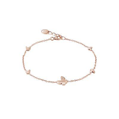 Salvini Bracciale I Segni Farfalla Oro Rosa 9kt e Diamante