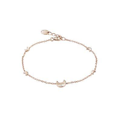 Salvini Bracciale I Segni Luna Oro Rosa 9kt e Diamante
